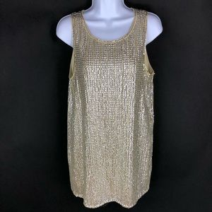 Forever 21 Women's Gold Sparkle Tunic M